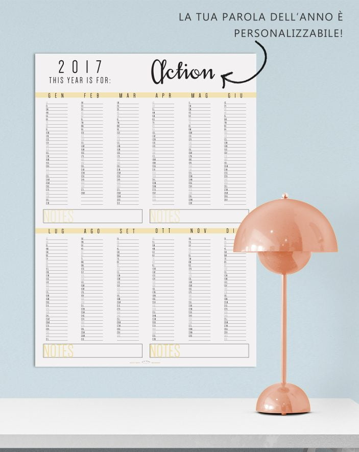 Wall planner 2017